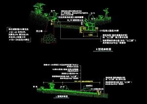 现代水池驳岸详细设计cad施工图