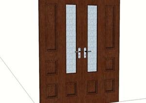 室内办公室门设计SU(草图大师)模型