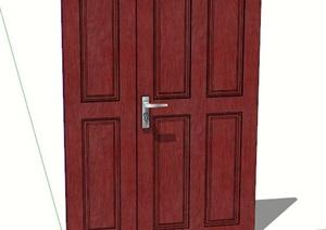 室内卧室门设计SU(草图大师)模型
