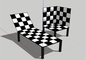 现代室内独特的座椅SU(草图大师)模型
