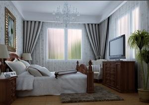 现代室内卧室空间装修设计3d模型