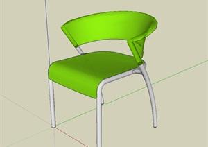 现代独特的座椅SU(草图大师)模型