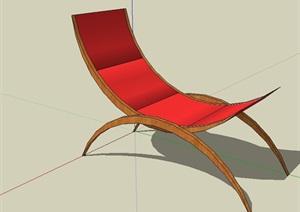 园林景观独特详细的躺椅设计SU(草图大师)模型