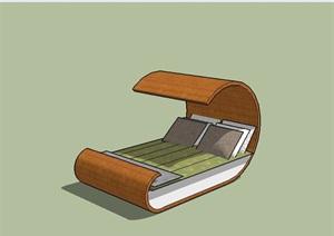 某室外独特的躺椅设计SU(草图大师)模型