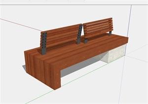 室外景观独特的座椅SU(草图大师)模型