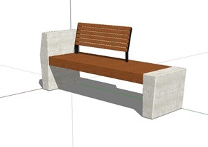 景观座椅坐凳设计SU(草图大师)模型
