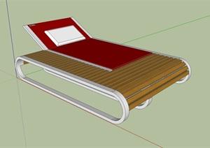 室外躺椅详细设计SU(草图大师)模型