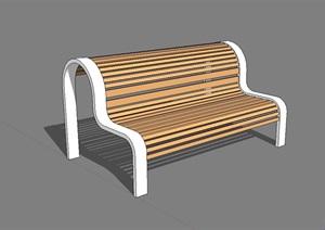 园林景观独特的座椅设计SU(草图大师)模型