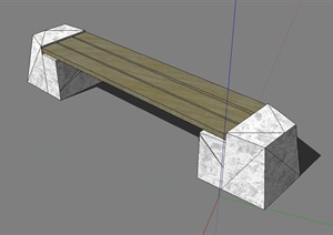 园林景观独特详细的坐凳设计SU(草图大师)模型