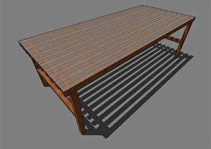 现代室外景观座凳设计SU(草图大师)模型