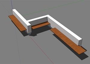 室外景观座椅独特设计SU(草图大师)模型