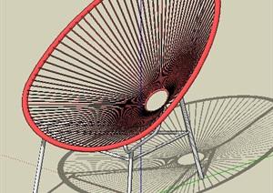 简约风座椅设计SU(草图大师)模型素材