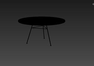 现代风格室内圆形桌子设计3d模型