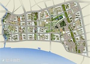 上海万科北外滩规划设计cad、jpg及ppt方案