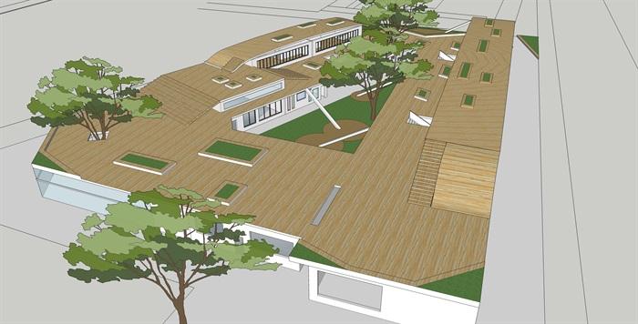十套精致幼儿园规划模型(1)