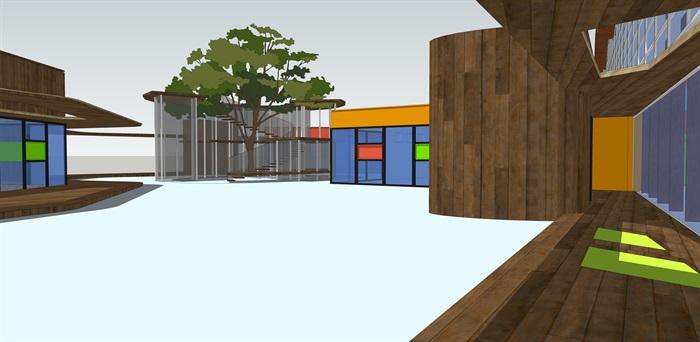 十套精致幼儿园规划模型(2)