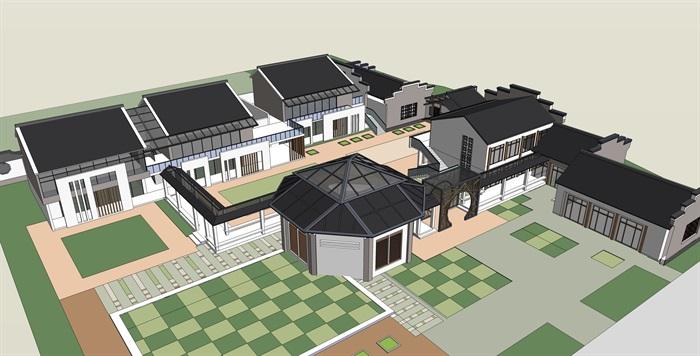 十套精致幼儿园规划模型(3)