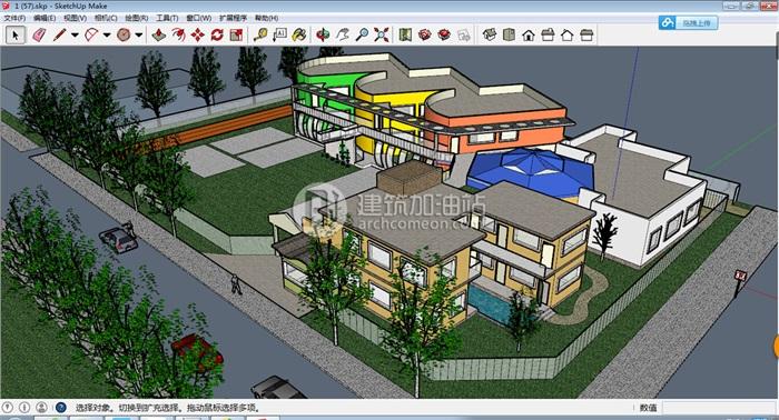 十套精致幼儿园规划模型(6)