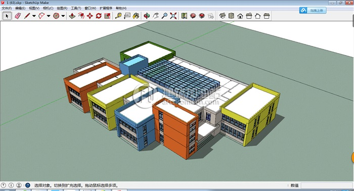 十套精致幼儿园规划模型(7)
