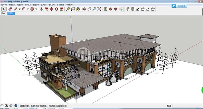 十套精致幼儿园规划模型(8)