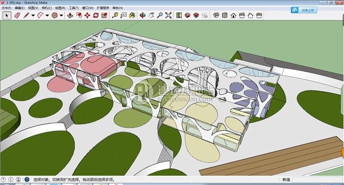 十套精致幼儿园规划模型(10)