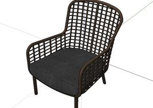 现代独特的室内座椅SU(草图大师)模型