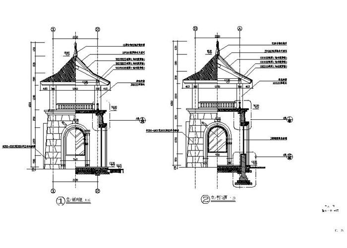 欧式激活石材景亭v激活cad施工图cad2007教程码方形图片