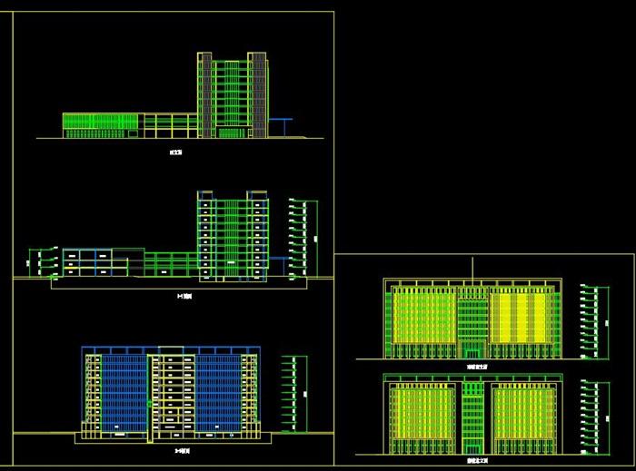某科研企业办公楼建筑方案设计cad及效果图[原创]