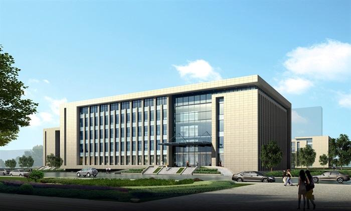 某行政办公中心建筑方案设计(CAD+效果图)(3)