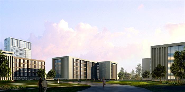 某行政办公中心建筑方案设计(CAD+效果图)(4)