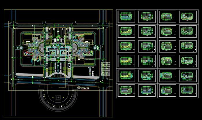 某行政办公中心建筑方案设计(CAD+效果图)(7)