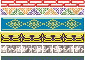 蒙古族图案元素设计jpg贴图