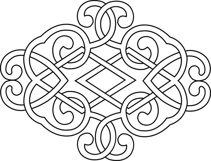 蒙古族图案元素设计jpg贴图[原创]