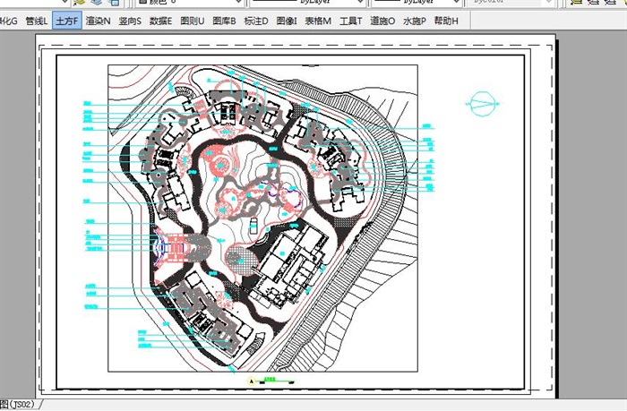 深圳某花园小区设计cad方案和彩平面图[原创]