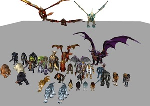 魔兽世界最全的3D完美贴图人物