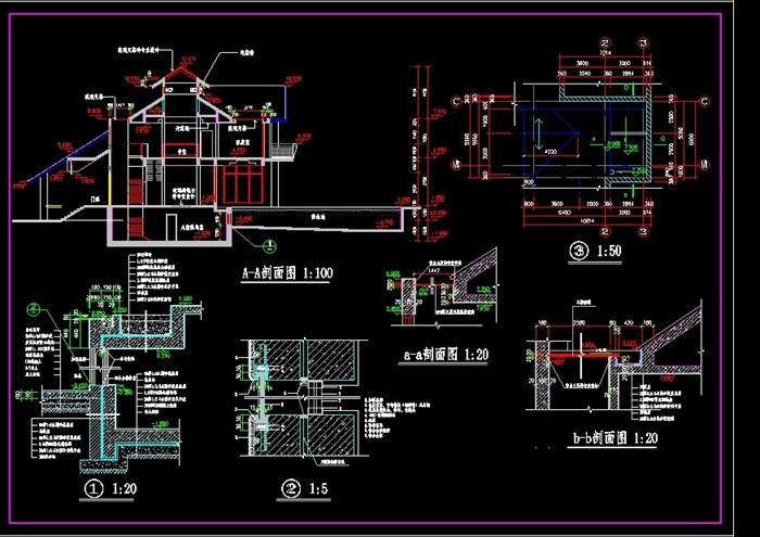 豪华别墅全套设计cad施工图