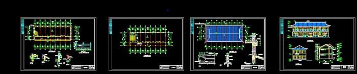 一套古典风格历史陈列馆设计cad方案图