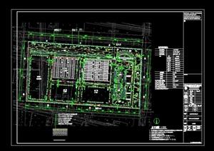 一套厂区的详细规划cad平面图