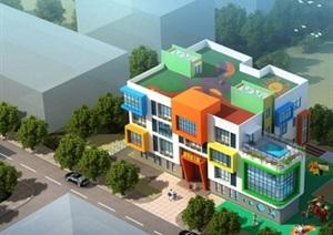 现代方案详细幼儿园打印版v方案CAD、ppt风格cad修改竖图片