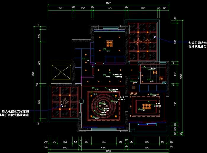 欧式复式室内装修设计cad施工图(含效果)(5)