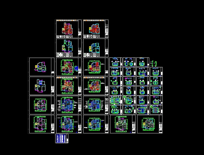 欧式复式室内装修设计cad施工图(含效果)(6)