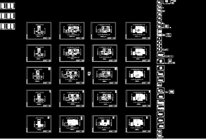 豪华别墅家装室内设计cad施工图效果图(10)