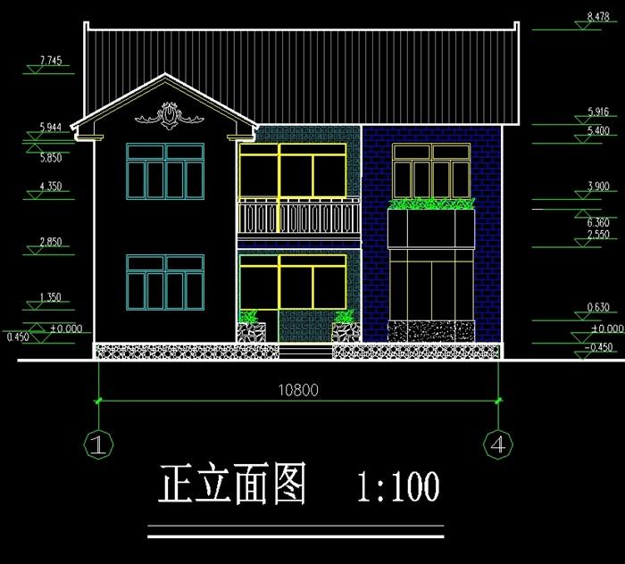 中式小别墅原创cad大全图[建筑]弯别墅方案钥匙图片