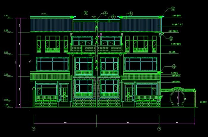 某高档别墅设计cad施工图