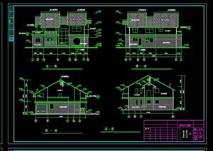 庄别墅详细设计cad施工图纸-现代中式施工图DWG建筑规划设计方案