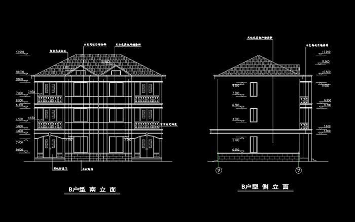 某详细欧式小型别墅建筑cad施工图