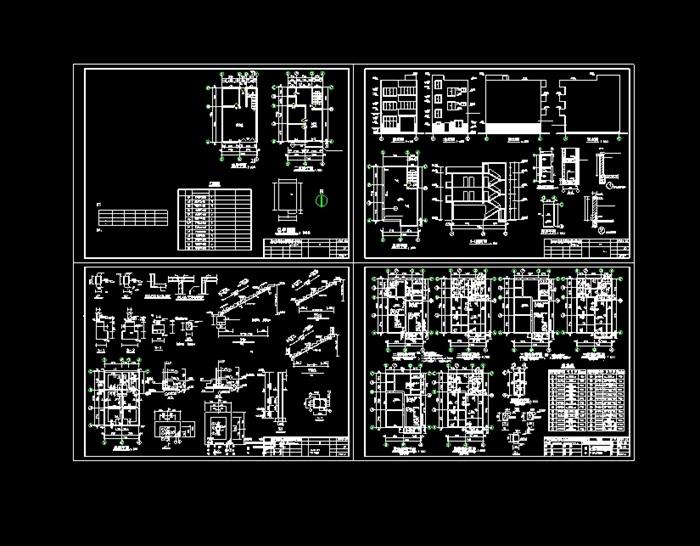 私人住宅建筑cad结构图[原创]