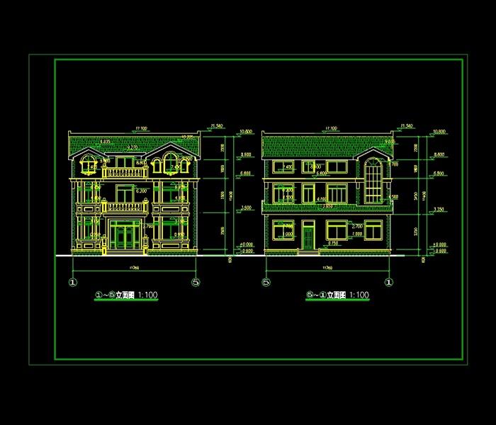 某独立小住宅别墅设计cad施工图