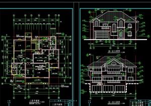美式别墅全套设计cad施工图-设计素材下载