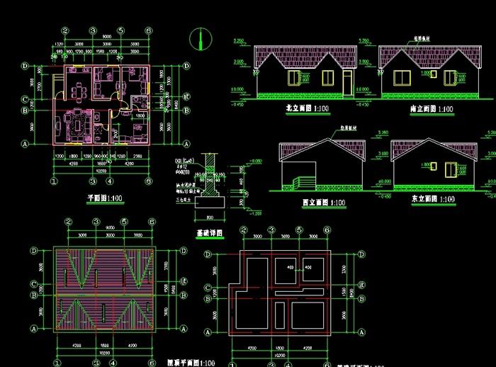 别墅设计cad方案